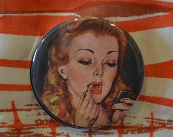 Vintage Lipstick Compact Mirror