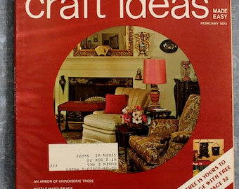 Decorating Craft Ideas Made Easy February 1973