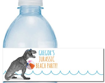 Dino #Swim Party Water #Bottle #Labels