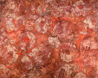 Batik Cotton Fabric/ Quilting Fabric/ Batik Floral Design/ Designer Fabric/ Sewing Fabric/ Batik Material