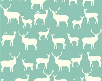 SALE - Birch Fabrics - Elk Grove Collection - Elk Family in Pool Organic