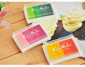 1 Pcs Graduated Colors Ink Pad Rainbow Ink Pad