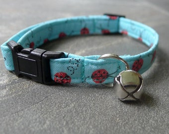 CAT COLLAR ladybug break away with bell