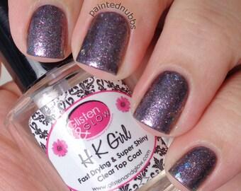 Rosy Cheeks - Custom Winter Interference Iridescent Glitter Nail Polish
