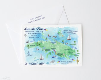 Save The Date St. Thomas USVI, Beach Wedding Save The Date Card, Destination Wedding Save The Date, Beach Save The Date, St. Thomas USVI