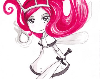 Ana Dess in Aurora (Child of light) - Illustration (ON COMMAND)