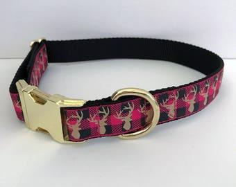 Pink Stag Collar