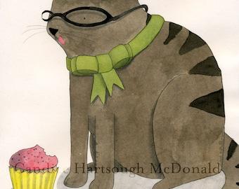 Cupcake Nibbler digital print