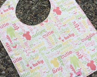 TODDLER BIB: Cutie Pie Girl, Personalization Available