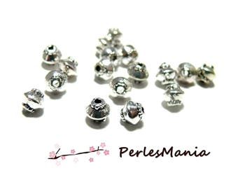 50 top 5 mm metal H11256 ANTIQUE silver spacer beads
