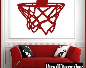 Basketball Hoop Vinyl Wall Decal or Car Sticker - basketballst028ET
