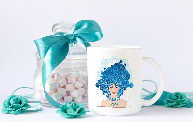 Aquarius Zodiac Coffee Mug / Aquarius Girl / Aquarius Gift for