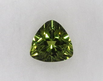 Peridot Loose Trillion Green 6x6mm 1.03ct Natural Green Stone Faceted Cut Gemstone August Birthstone Jewelry Supply