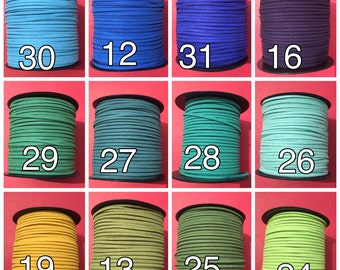 20yards of suede cord, faux suede cord, cord for jewelry making, suede cord for bracelet, suede cord for necklace