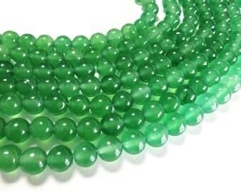 8mm Green Aventurine Beads Round Polished Natural Gemstone Loose 15'' Full Strand