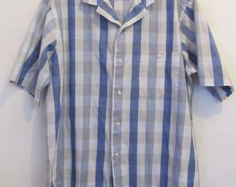 A Men's Vintage 80's,Short Sleeve CHECKERED indie mod era Shirt By KNIGHTSBRIDGE.L