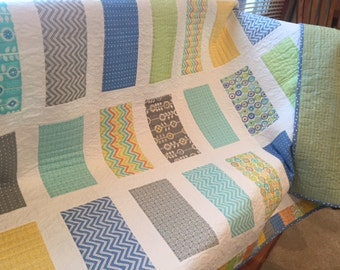 Modern Lap or Baby Quilt