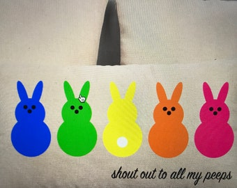 Easter Bunny Peep Pillow and Pillow Cover