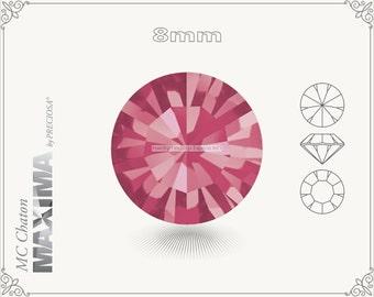 6 pc.+ SS39 (8mm) Preciosa MC Chaton MAXIMA - Indian Pink Color