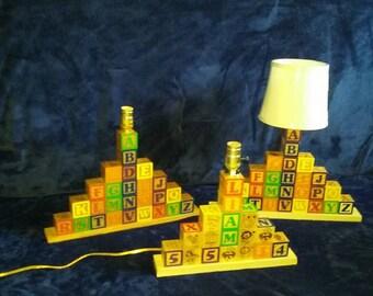 Alphabet Block Lamp