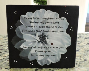 Daughter in law gift etsy future daughter in law gift welcome to the family gift bridal shower gift negle Choice Image