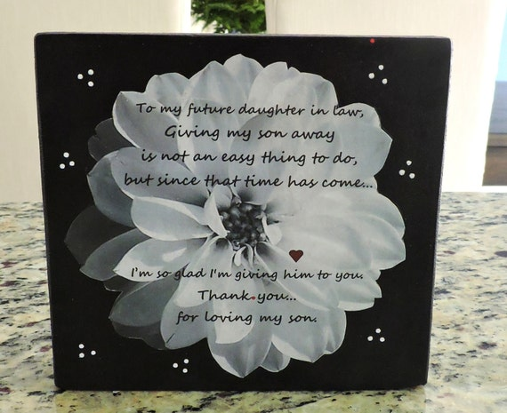 Daughter In Law Personalized Poem: Future Daughter In Law Gift Welcome To The Family Gift