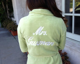 Customize It- Wrapped In A Cloud Plush Signature Robe - 100 Thread Colors to Choose From