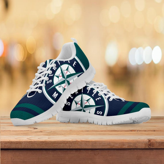 Sizes Trainers Mariners Shoes Mens Womens Gift White Sneakers Custom Collector Gift Kids Gift Seattle Black Sports Running qIBAww8
