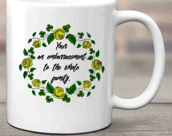 Your an Embarrassment Coffee Mug, Adult Coffee Mug, Funny Coffee Mug, Tea Mug, Indignation, Sarcastic, Ceramic Mug, Coffee Lover, Tea Lover