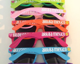 Bachelorette Party Sunglasses, Personalized Sunglasses, Hen Party, Custom Sunglasses, Bachelorette Favors, Beach Wedding, Stag Party