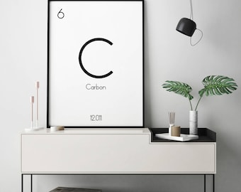 Periodic Table Wall Art, Chemistry Gift, Chemistry Decor, Periodic Table Of Elements, Periodic Table Poster, Elements Print