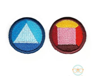Steven Universe Patch - Garnet - Ruby and Sapphire - Geeky Embroidered Iron on Patch or Applique