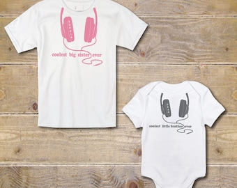 New Big Sister Shirt, Big Sister Little Brother, Little Brother Onesie, Baby Shower Gift, Big Sister Shirt, Baby Brother Shirt, Coolest