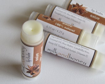 Anise Lip Balm - 100% natural - Buy 3 lip balms, get 1 free