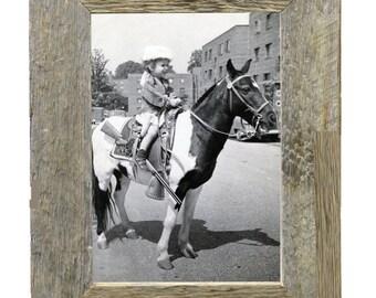 Natural barnwood photo frame