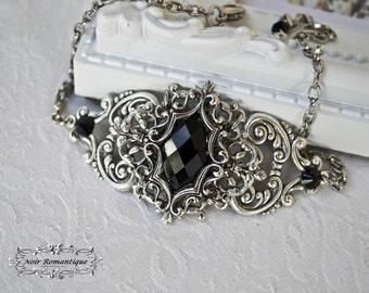 Dorothea's  bracelet-Silver Gothic Bracelet-Victorian Gothic Bracelet-Silver bracelet-cameo bracelet-Victorian Gothic jewelry