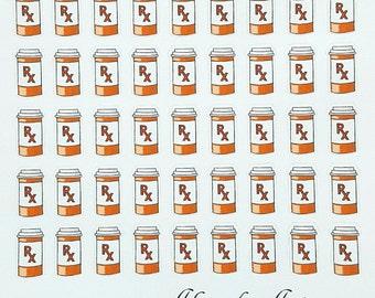 Medicine/Prescription Reminder Planner/Journal/Bullet Journal Stickers
