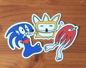 Sonic Tails & Knuckles - Sonic the Hedgehog Vinyl Sticker Set