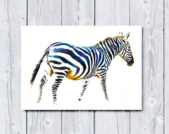 Zebra, Zebra print, Zebra art, animal art, animal print, Horse art, Stripes, wildlife print, wildlife painting, home decor, art, Horse art
