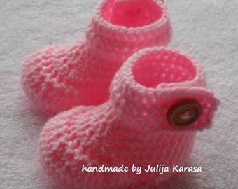 Crochet baby boots, baby booties, girl's shower gift, handmade girl's boots, crocheted booties, handmade booties, booties for girl's