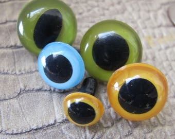 Eyeballs EYES Parts, Supplies, Crafting, Doll-making, Stuffies, Stuffed Animals, Creating, Doll or Animal Eyes. 21 mm, 18 MM, 15 mm, 12 MM