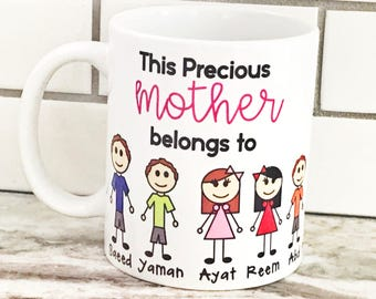 Custom family mug, Mother's Day gift, Mother's Day mug, Father's Day mug, personalized mug, eid gift, islamic gift, ramadan gift