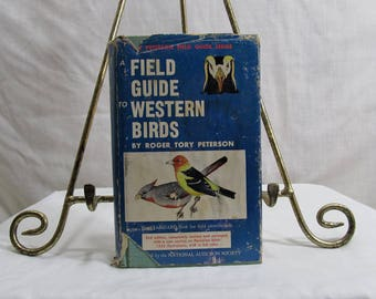 A Field Guide to Western Birds, Peterson Field Guide Series, Roger Tory Peterson, Houghton Mifflin, Boston, MA 1961, Vintage Bird Book