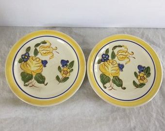 Vintage Redwing Pottery Dinnerware /Brittany Pattern / 2 Saucers / 1940's