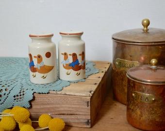 Vintage Duck Ceramic Salt & Pepper Shakers