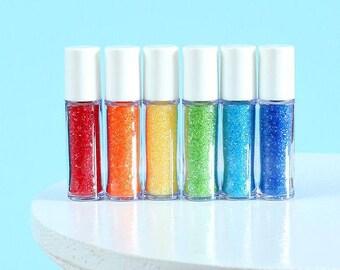 Mini Happy Rainbow Sprinkles Set, Mini Sanding Sugar Set, Rainbow Sanding Sugar, Sanding Sugar Sampler, Sprinkle Sampler, Party Favors