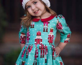 Christmas Dress Girl - Girls Holiday Dress - Holiday Dress for Toddlers - Dress and Doll - Nutcracker Dress - Christmas Dress for Toddlers