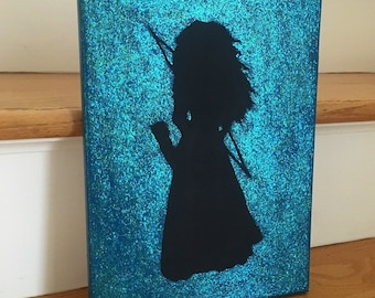 Brave Merida Glitter Canvas