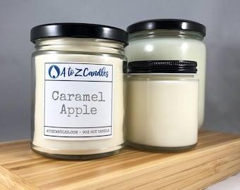 Caramel Apple Candle, Apple Candle, Apple Scented Candle, Fall Candle, Autumn Candle, Caramel Candle, Caramel Apples, Soy Candle Jar