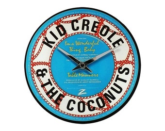 KID CREOLE - I'm a wonderful thing, Baby - Vinyl Wall Clock 7""